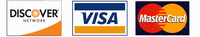 Visa, Mastercard and Discover Cards are Accepted